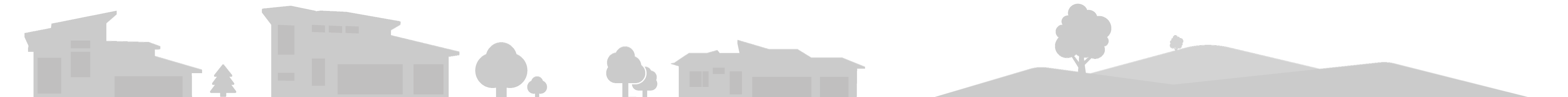 fun whimsical house silhouettes